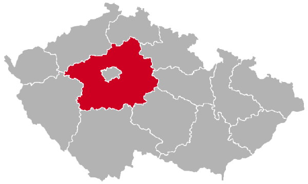 Central Bohemian Region on the Map