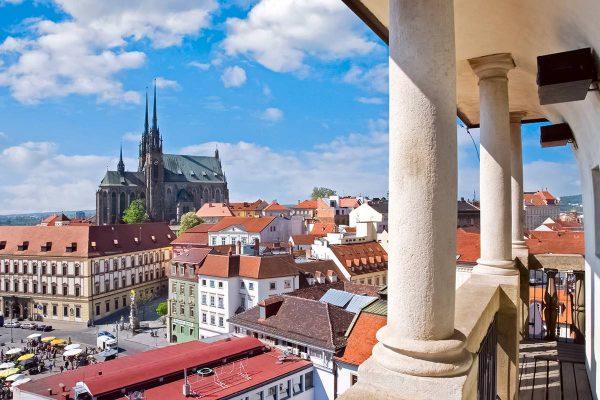 Panorama of Brno, Moravia, the Czech Republic