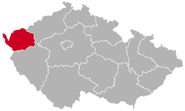 Karlovy Vary Region on the Map