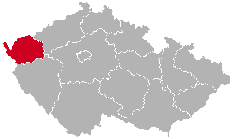 Karlovy Vary Region on the Map