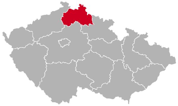 Liberec Region on the Map