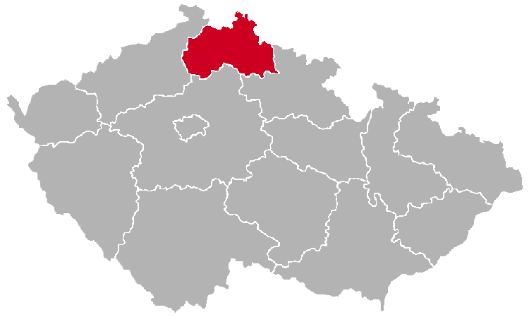 Liberec Region on the Map