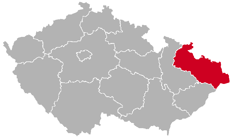 Moravian-Silesian Region on the Map