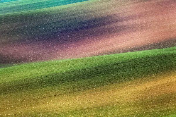 Rolling Fields of Moravian Toscany near Kyjov, Czechia