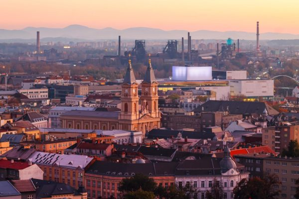 Evening Panorama of Ostrava, Czechia