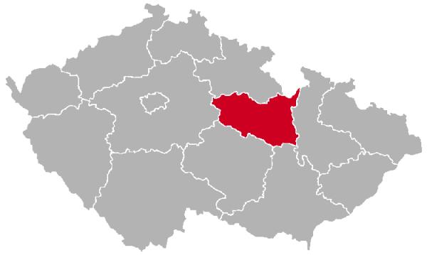 Pardubice Region on the Map