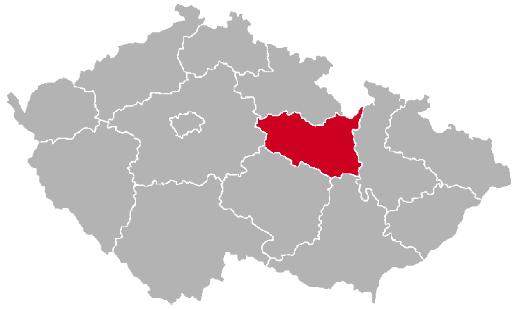 Pardubice Region on the Map