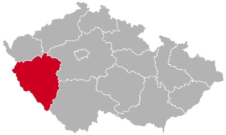 Pilsen Region on the Map