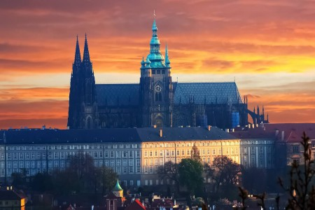 Prague Castle at Sunrise, Czechia