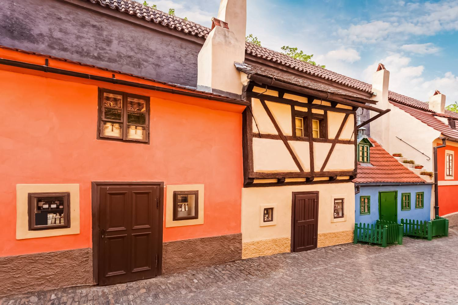 The Golden Lane in Prague, Czechia