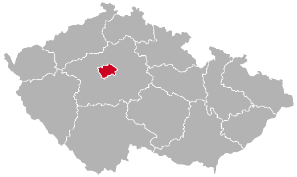 Prague on the Map of Czechia