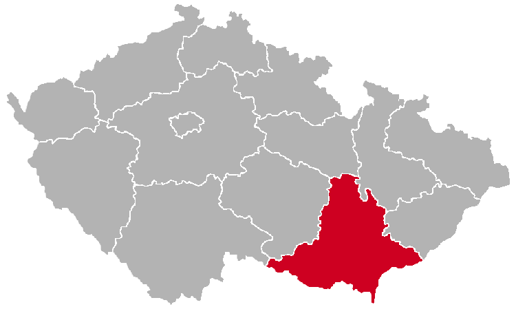 South Moravian Region on the Map