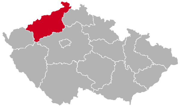 Usti nad Labem Region on the Map