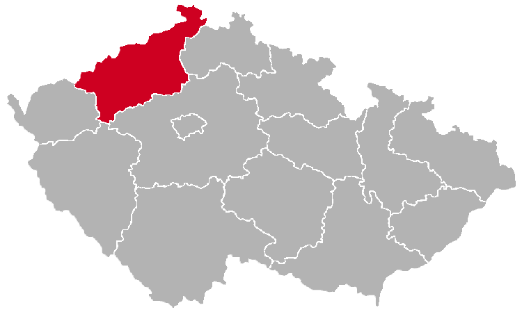 Usti nad Labem Region on the Map