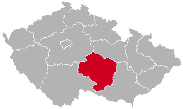 Vysocina Region on the Map