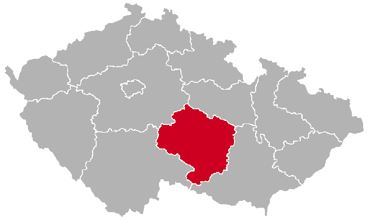 Vysocina Region on the Map