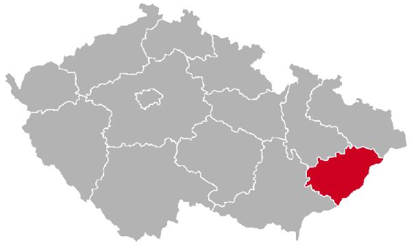 Zlín Region on the Map