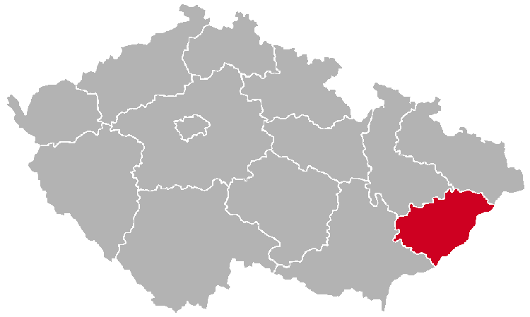 Zlín Region on the Map