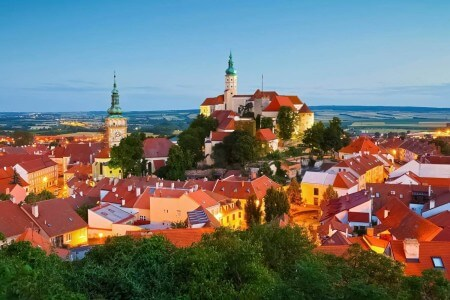 Panorama of Mikulov, Moravia, Czechia