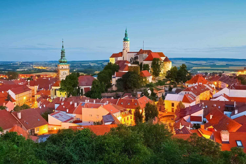 Panorama of Mikulov, Moravia, Czechia