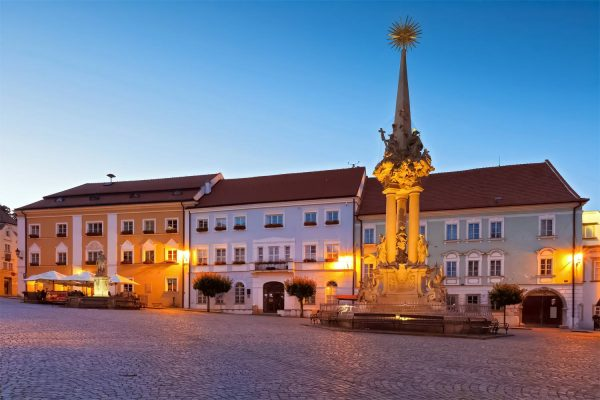 Town Square, Mikulov, Moravia