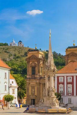 Holy Trinity Column and Svatý kopeček Hill (Tanzberg), Mikulov, Moravia, Czechia