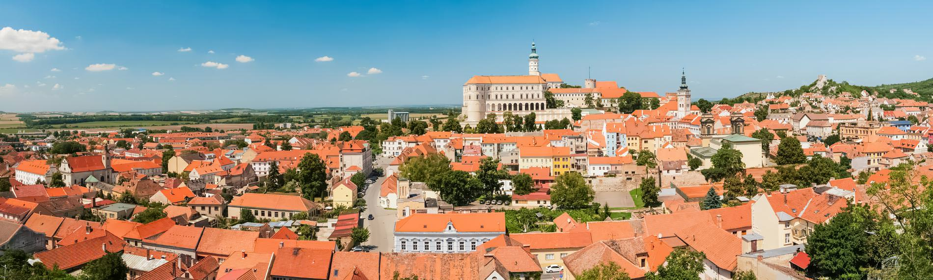 Panorama of Mikulov, Moravia, Czech Republic