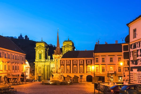 Main Square in Mikulov - South Moravia, Czechia