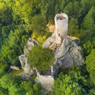 Ruins of the Gothic Frýdštejn Castle in Bohemian Paradise, Czechia