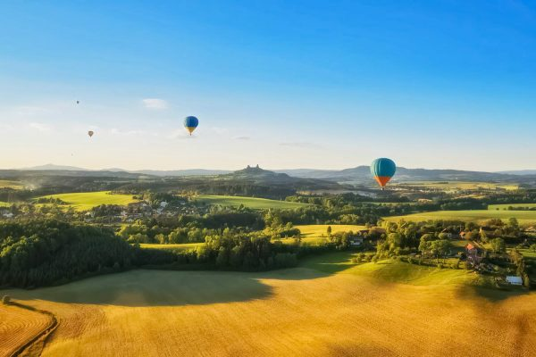 Balloons over the Bohemian Paradise