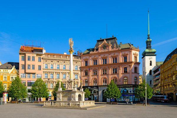 Freedom Square (Náměstí Svobody) in Brno, Moravia, Czech Republic
