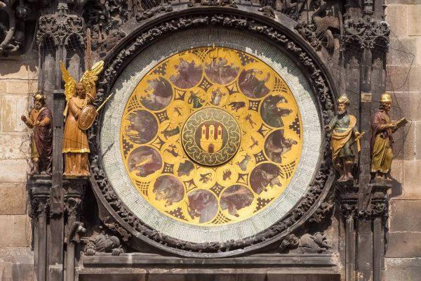 The Calendar Dial of the Prague Astronomical Clock (Orloj) - Czechia