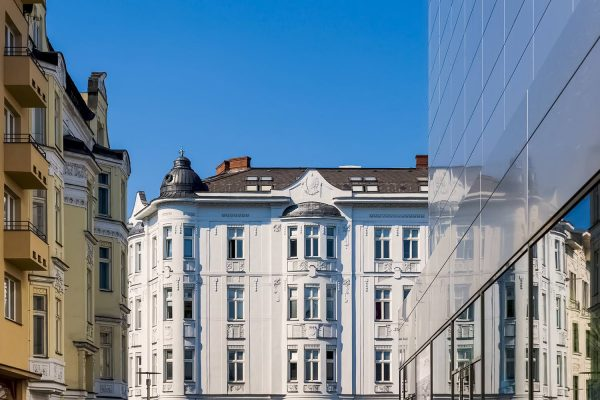 Old and Modern Architecture in Downtown Ostrava, Czechia