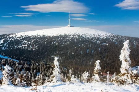 Praděd - Mountain in Jeseníky Mountains, Czechia