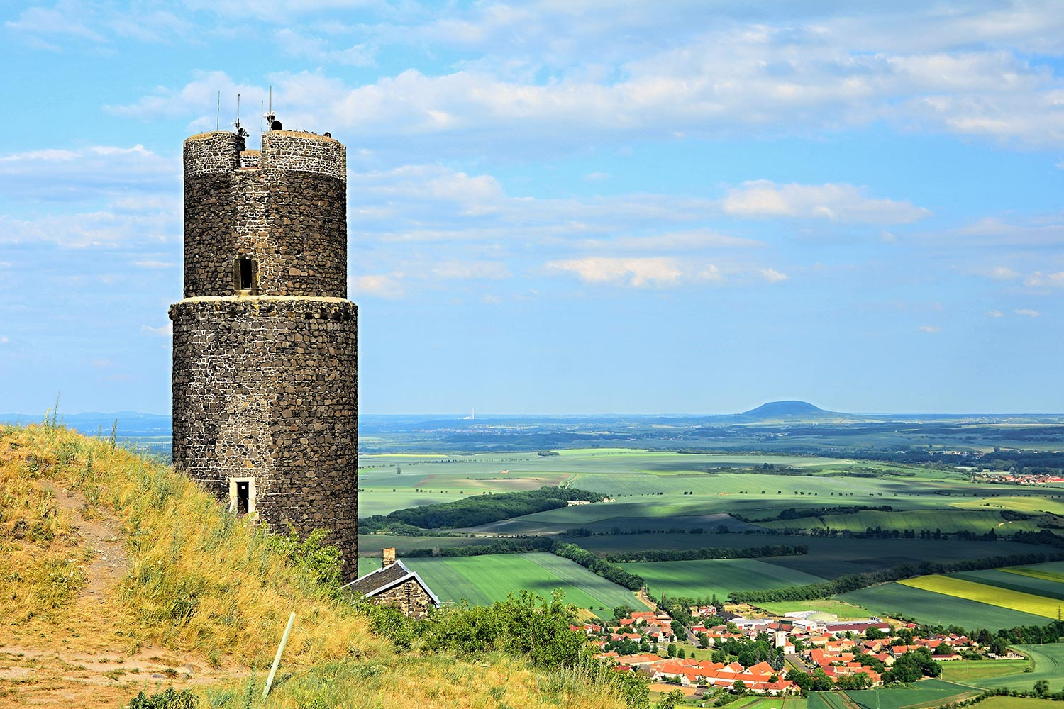 The Black Tower of Hazmburk Castle, Czechia
