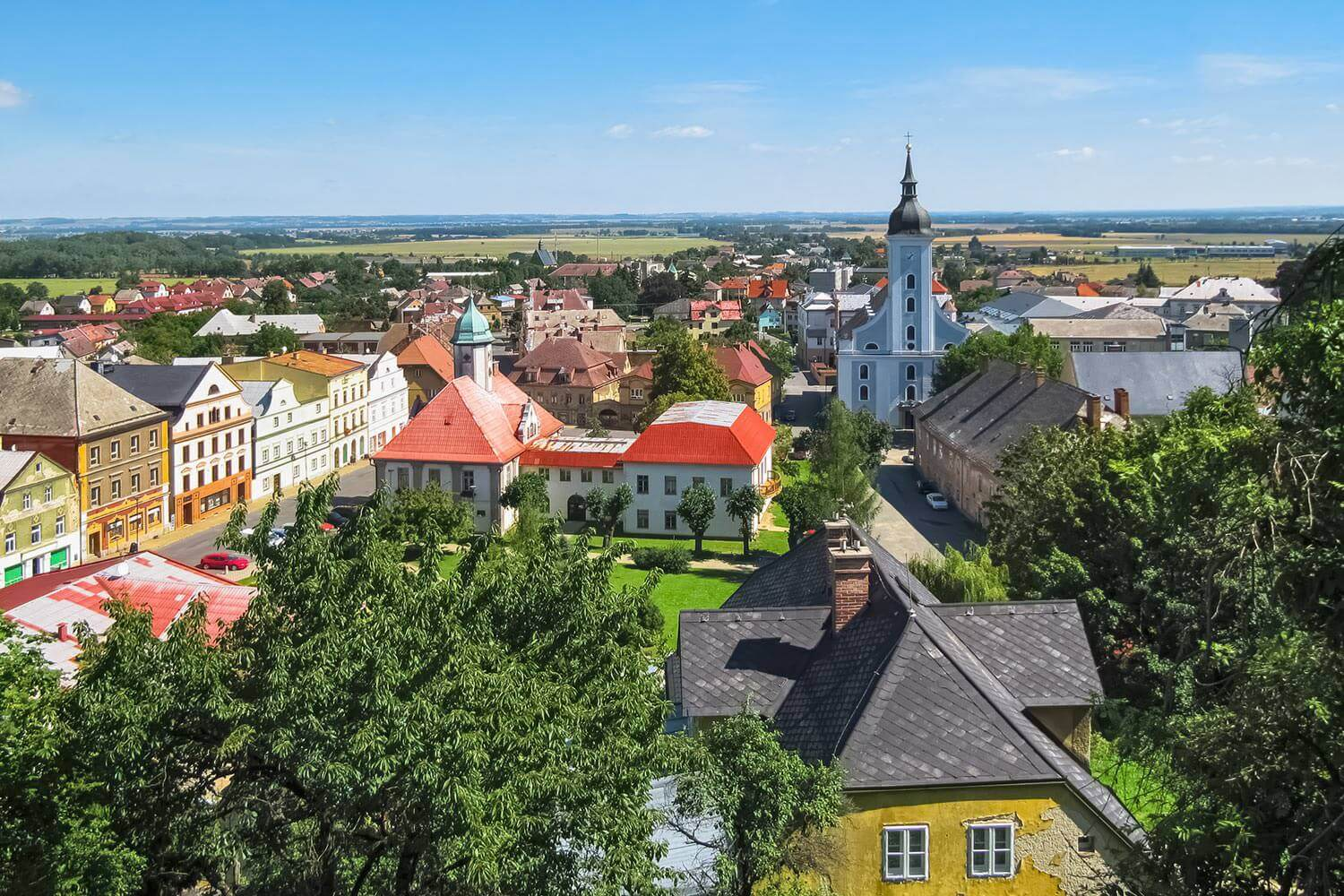 View of Javornik from Jansky Hill (Jansky Vrch) Chateau, Czech Silesia, Czechia