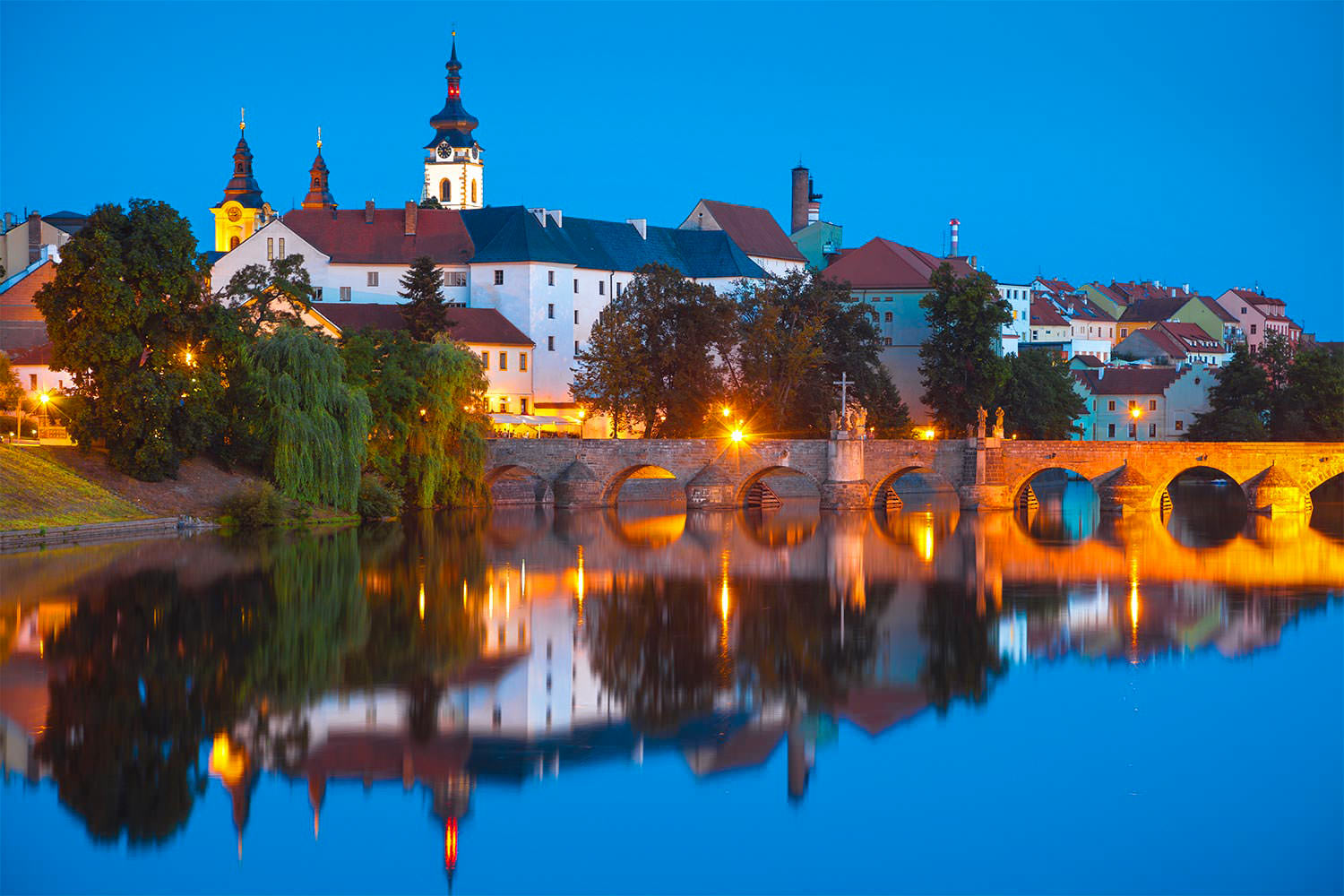 The Skyline of Písek, South Bohemia, Czechia