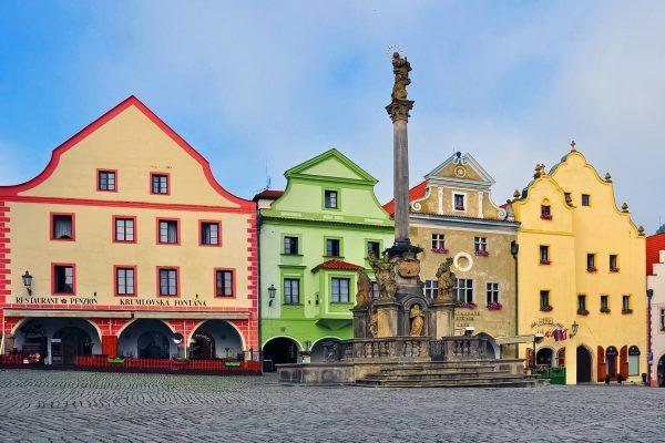 Unity Square (Náměstí Svornosti) in Český Krumlov, Czechia
