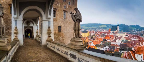 View from Český Krumlov Castle, Czechia