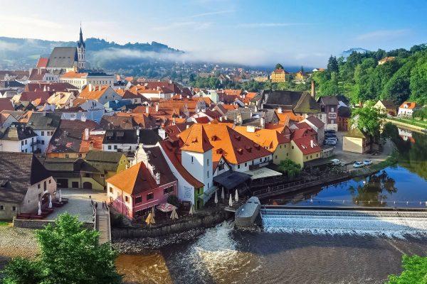 Panorama of Český Krumlov, Czechia