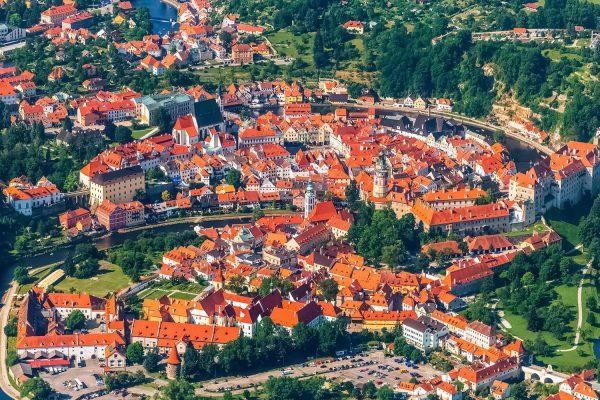 Aerial View of Český Krumlov