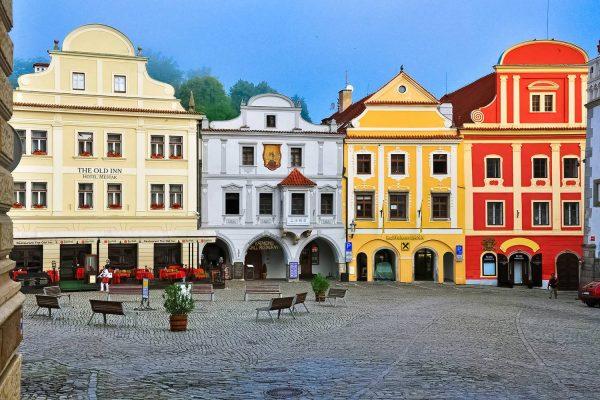 Náměstí Svornosti in Český Krumlov, Czechia