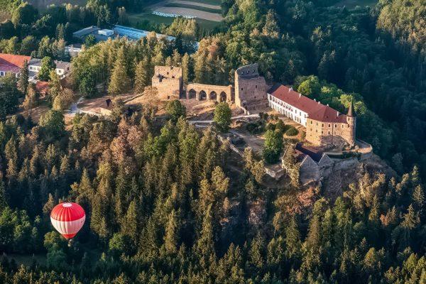 Aerial View of Velhartice Castle, Czechia