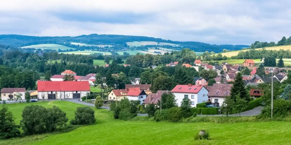 Panorama of Velhartice Village, Czechia