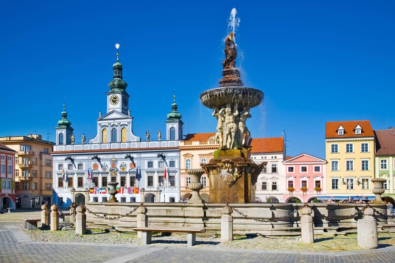 České Budějovice, Czechia - Premysl Otakar Square