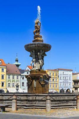 The Fountain of Samson, České Budějovice