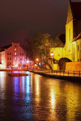 České Budějovice at Night