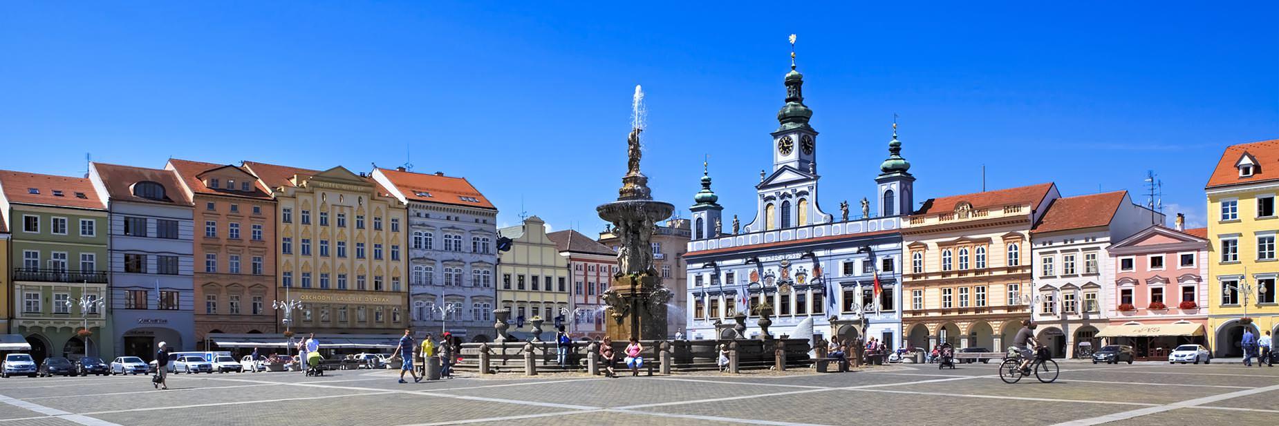 České Budějovice, Czechia - Přemysl Otakar II Square