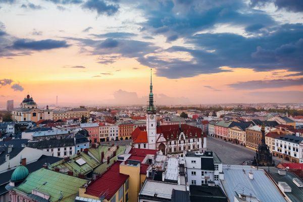 Panorama of Olomouc, Moravia, Czechia