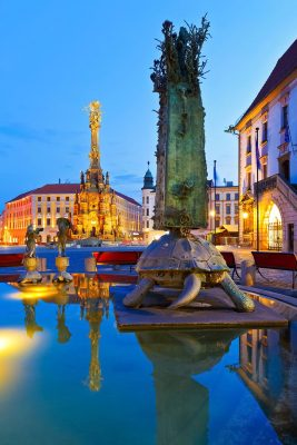 Arion's Fountain, Olomouc Old Town, Moravia, Czechia